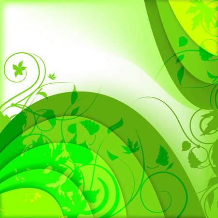 Abstract green background with plants Stock Vector - 7054598