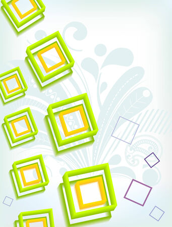 Lime green abstract background Vector
