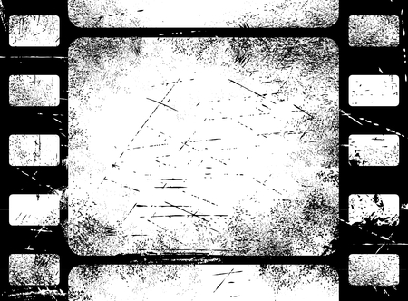 scratches: Old filmstrip background