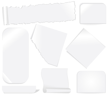 White paper labels and stickers set 2 Stock Vector - 7091859