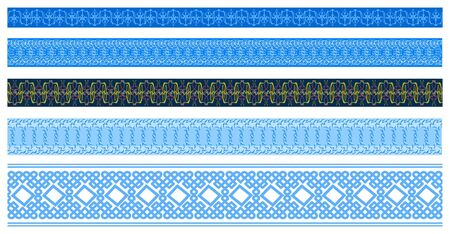 Intricate  borders for certificate or diploma Vector