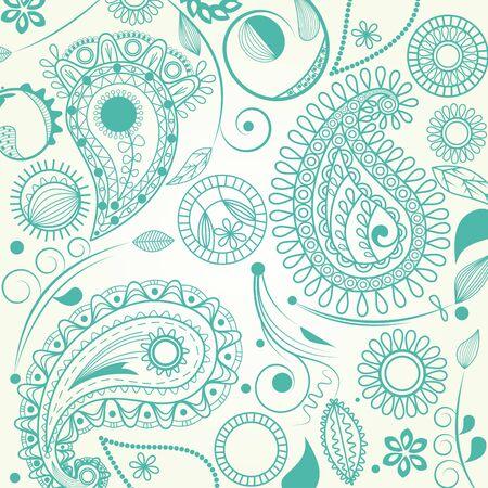 turquoise swirl: Paisley pattern