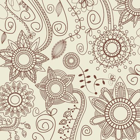 Graphic floral pattern Stock Vector - 7179376