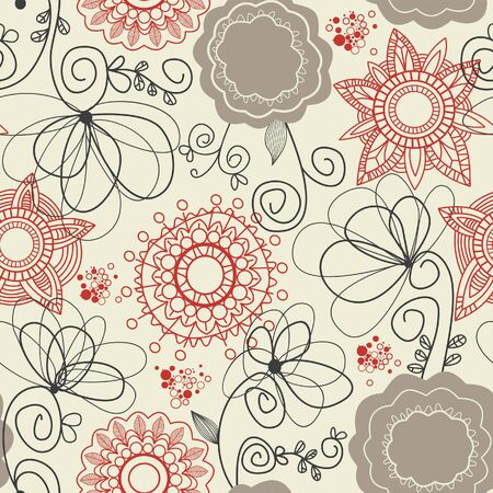 Floral seamless background Stock Vector - 7314044