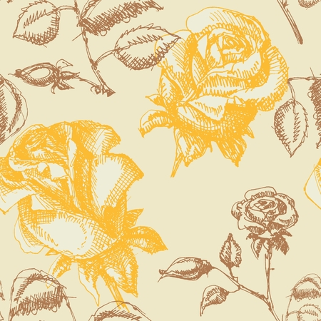 yellow rose: Roses seamless background