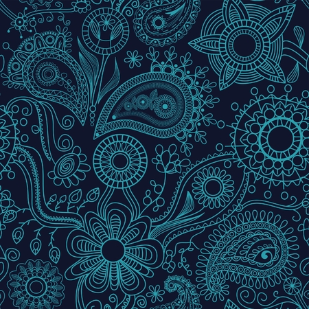 festive pattern: Graphic floral seamless background