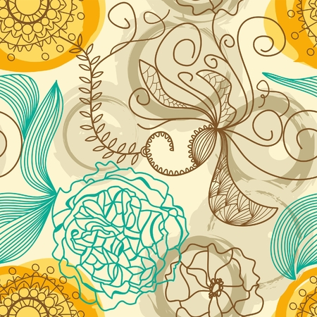 floral print: Retro floral background Illustration
