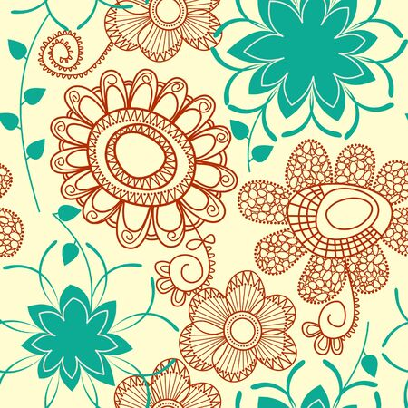 Floral seamless pattern Stock Vector - 7347077