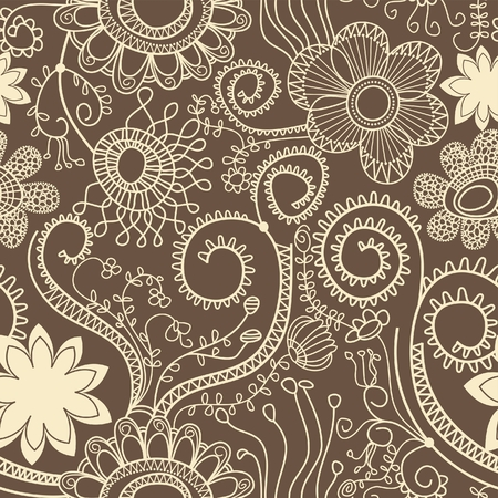 tileable: Graphic floral pattern