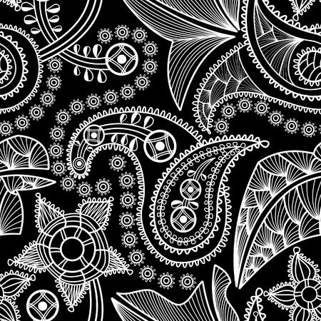 intricate: Paisley seamless pattern