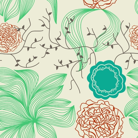 tileable: Retro floral background Illustration