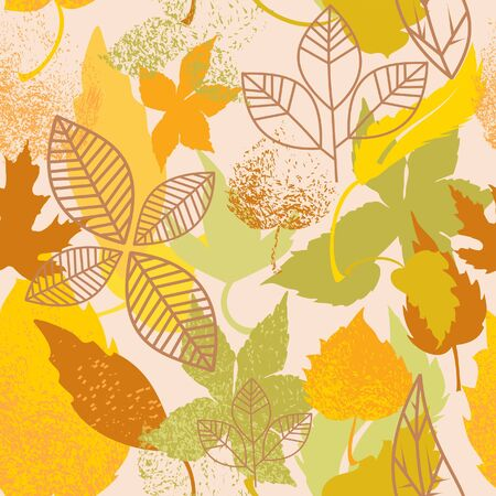 tileable: Autumn leaves seamless background