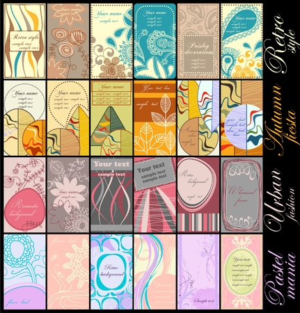 Vertical business cards collection Vector