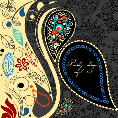 indische muster: Paisley floral background