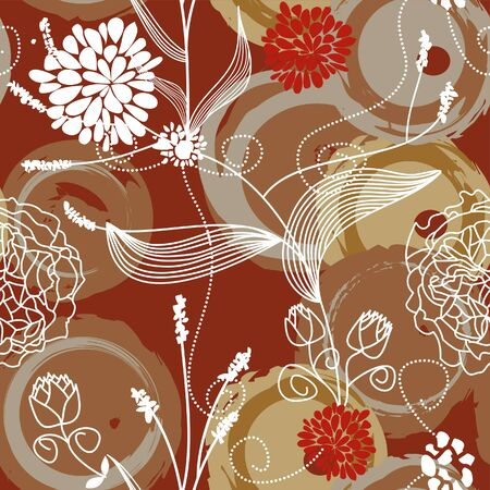 Floral seamless background  Stock Vector - 7700344