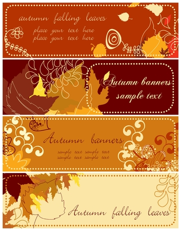 Autumn banners collection 2  Vector