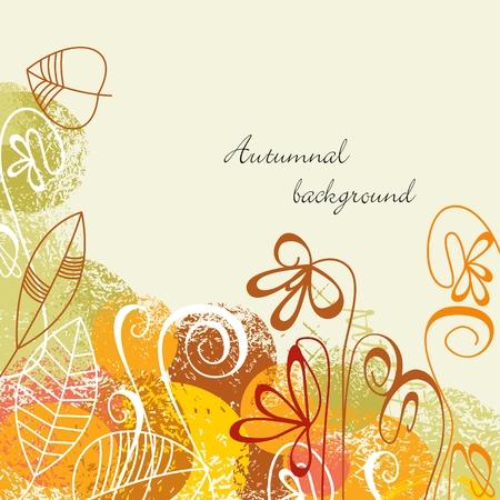 autumnal: Autumnal background Illustration