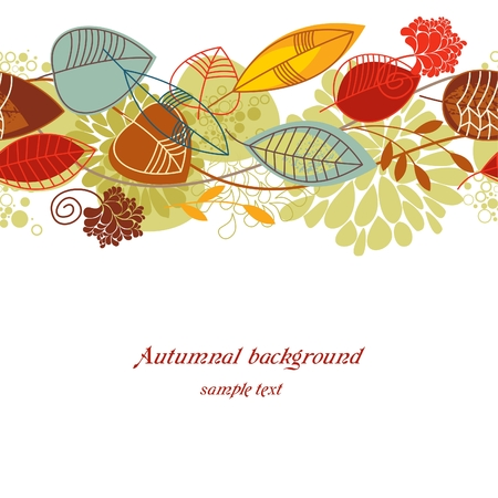 Autumnal seamless background Vector