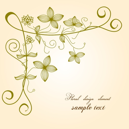 gentle: Hand drawn floral background