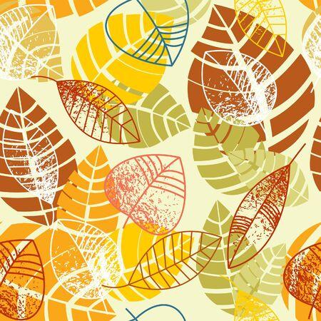 stylize: Herfst bladeren naadloze achtergrond