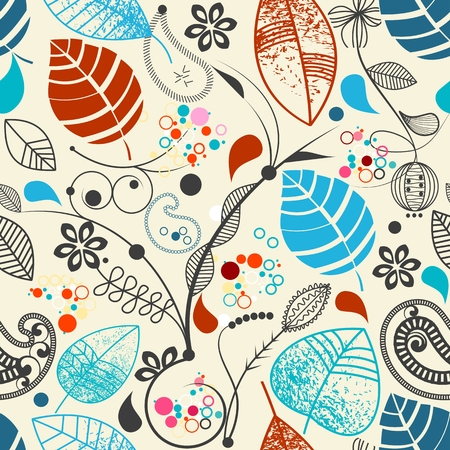 hand drawn flower: Floral seamless pattern