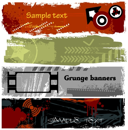 grungy header: Grunge banners collection Illustration