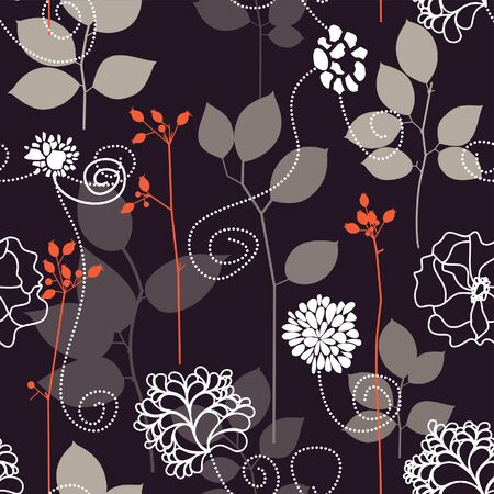 Floral seamless background Stock Vector - 7793762