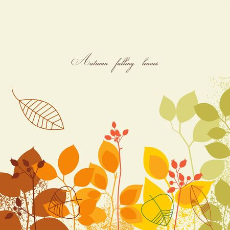 Autumnal leaves background Vector