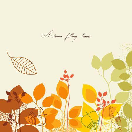 stylize: Herfst bladeren achtergrond