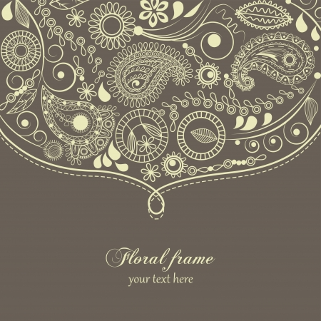 Hand drawn paisley border  Vector