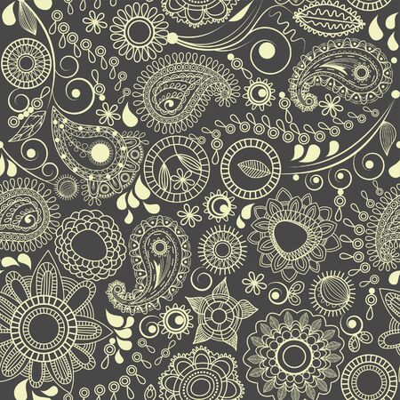 swirly: Floral seamless background, paisley motif  Illustration