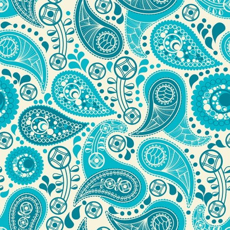 Paisley seamless background Stock Vector - 7860338