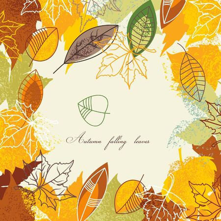 autumnal: Autumnal leaves frame