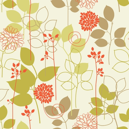 repeat: Retro floral seamless background