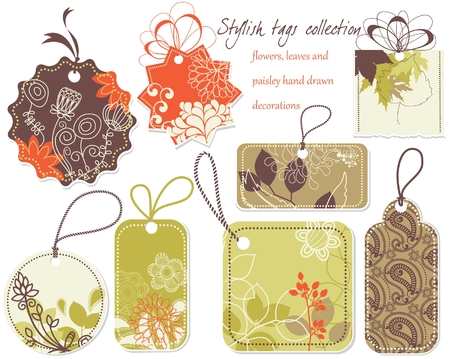 Stylish price tags collection Vector