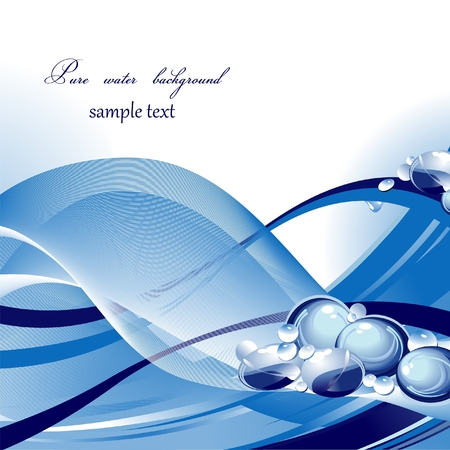 Pure water background  Vector