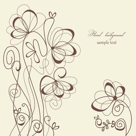 flores vintage: Floral background  Illustration