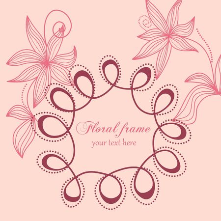 Floral frame Stock Vector - 7860349