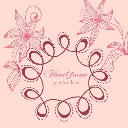 Floral frame Stock Vector - 7860349
