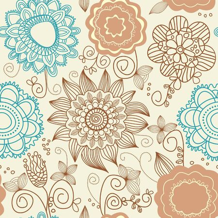 Floral seamless background Stock Vector - 7860367