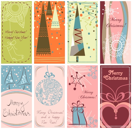 Christmas banners in different styles  Illustration
