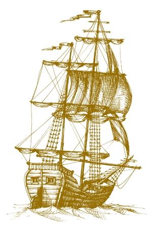 rope ladder: Vintage sailboat