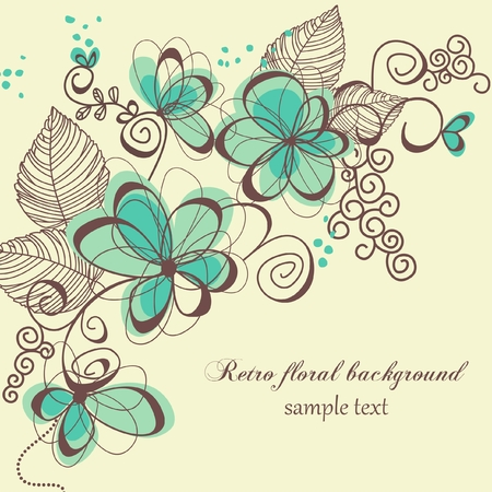 Retro floral background Stock Vector - 7964033