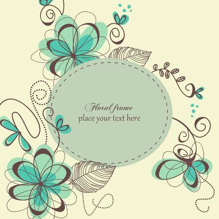 Cute floral frame Stock Vector - 7964032