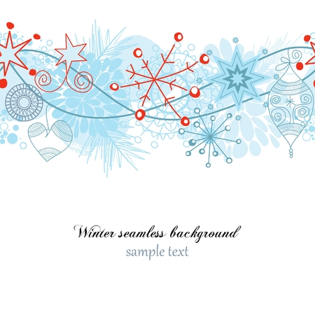 Winter seamless background Stock Vector - 8023037