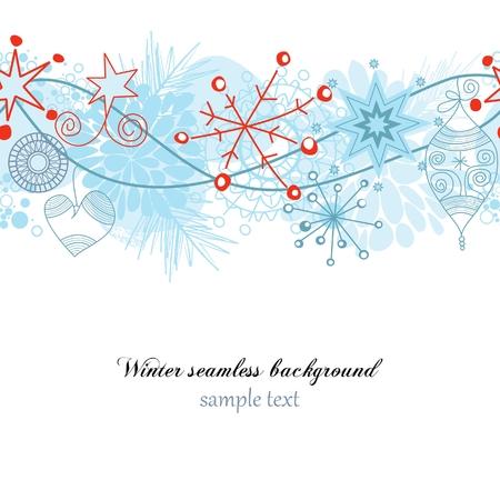 Winter seamless background Illustration