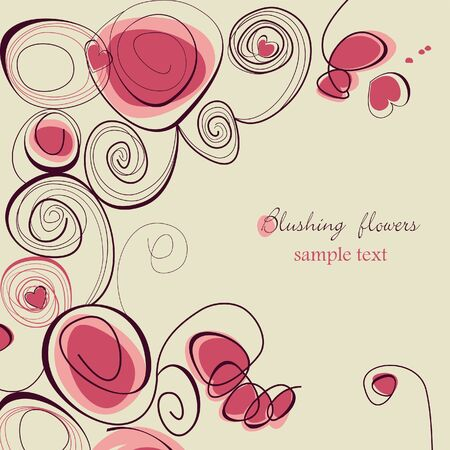Blushing flowers Stock Vector - 8023041