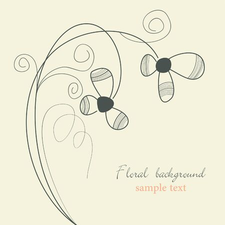 Delicate flowers background Vector