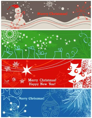 Christmas banners Stock Vector - 8023052