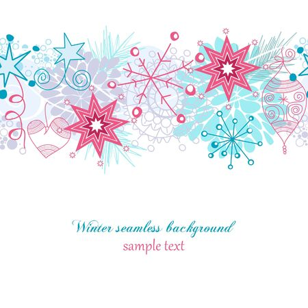 Winter seamless background Stock Vector - 8023046